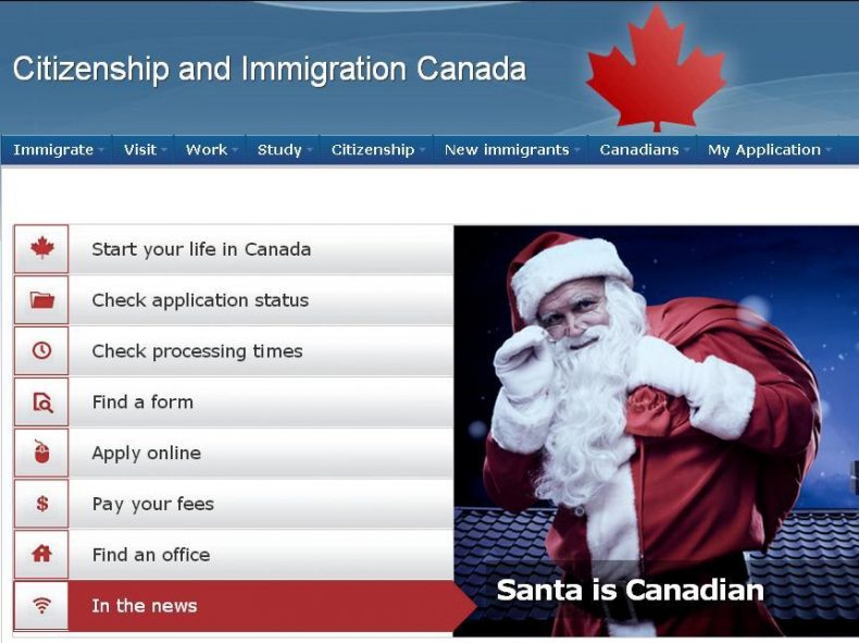 Santa is Canadian, and He's Already Employed
